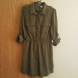 Urban Outfitters Army Green Dress